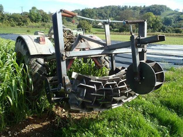 open source cover crop roller