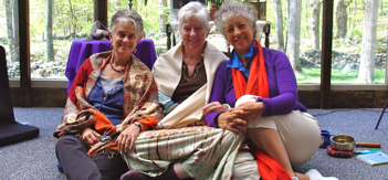 Polly Howells, Janice Rous, and Jean Esther, co-facilitators