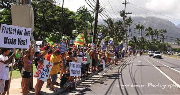 Maui residents demonstrate in support of GMO ban