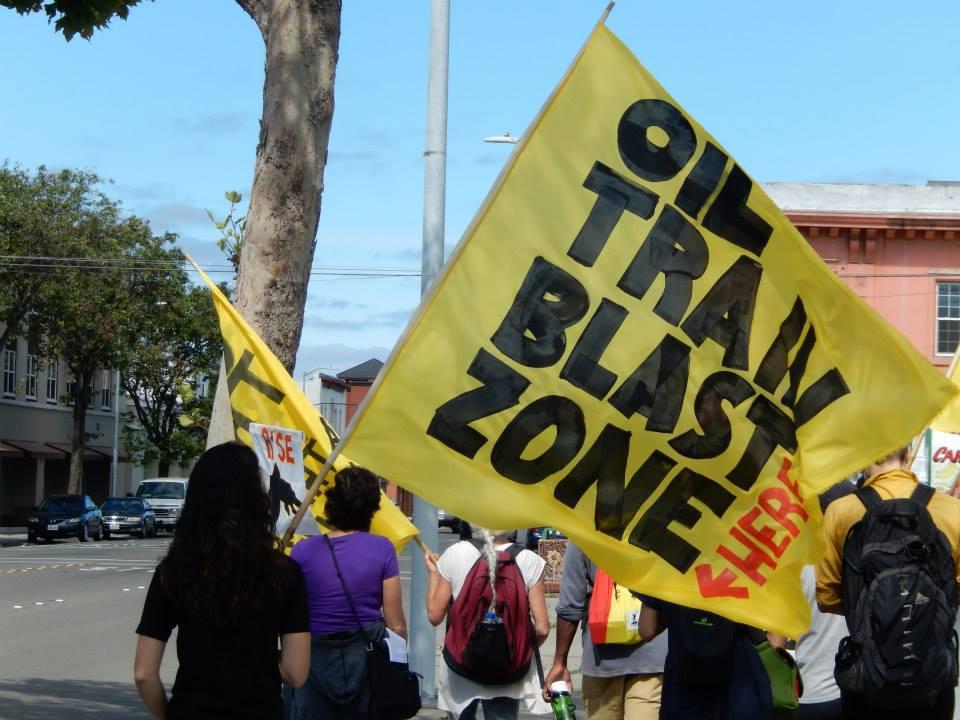 Oil Train Blast Zone Here