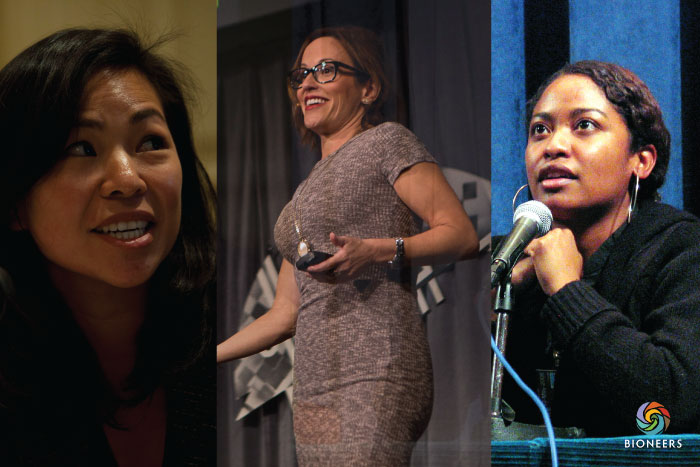 Three Bioneers are featured on the Grist50: (l to r) Vien Truong of Green for All, Adrianna Quintero of NRDC, Jihan Gearon of Black Mesa Water Coalition.