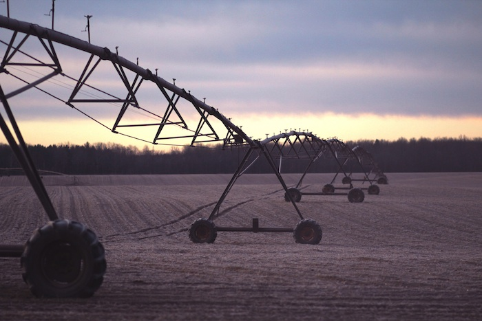 agriculture and water photo of farm sprinkler system