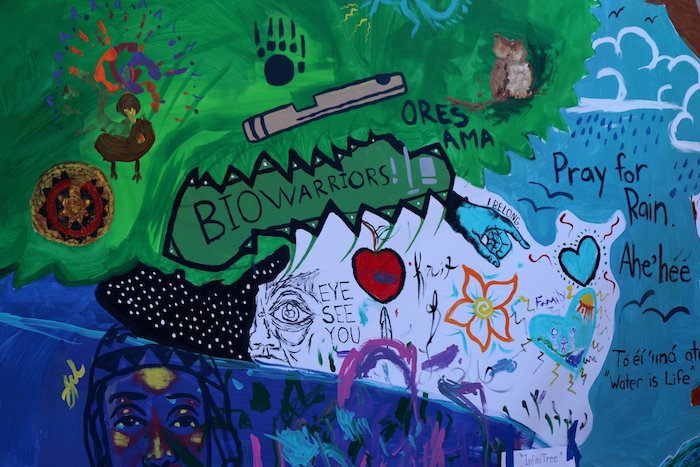Indigenous Youth Mural Bioneers 2015 © Tailinh Agoyo