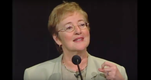 Maude Barlow speaking at the Bioneers Conference in 2003.