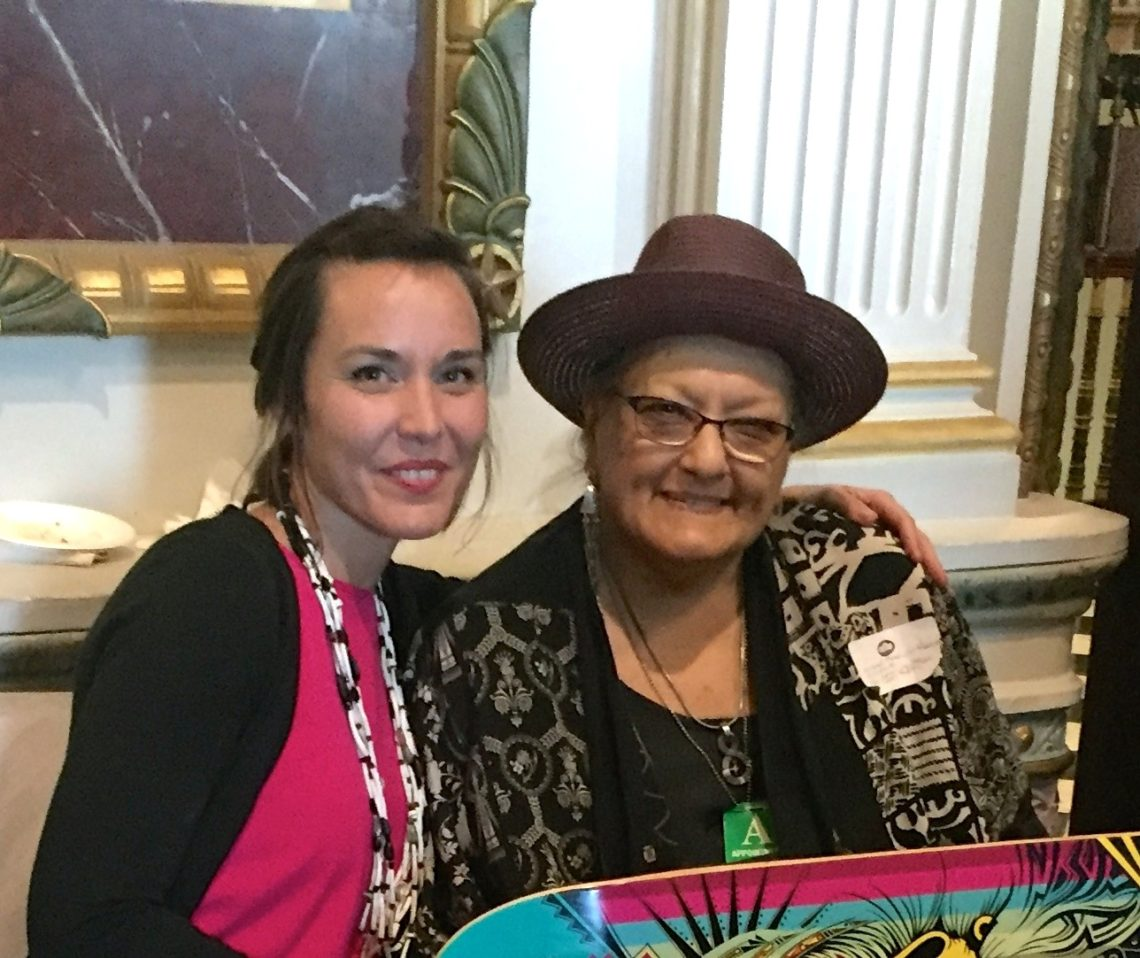 Cara Romero, Indigeneity Director with Suzan Harjo, Presidential Medal of Freedom recipient, Native Leader and Bioneers past faculty.
