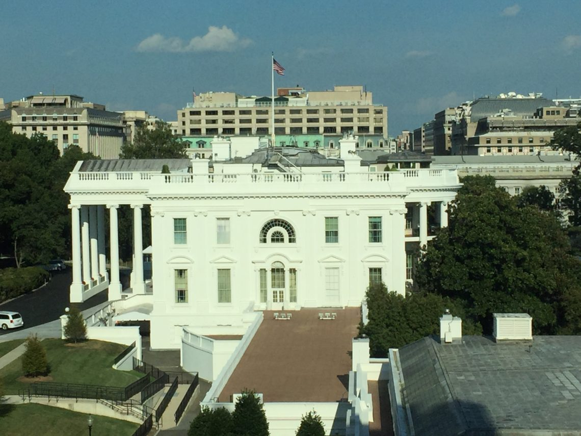 Our View of the White House from the Eisenhower Building
