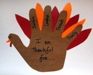 Typical children's Thanksgiving craft