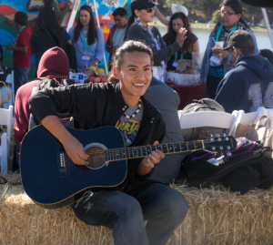 Good music, good friendship, art-making and conversation in the Indigenous Youth Art Space