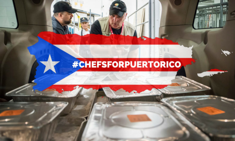 Celebrity Chef Jose Andrés Is Feeding More Than 5,000 Victims of Hurricane Maria