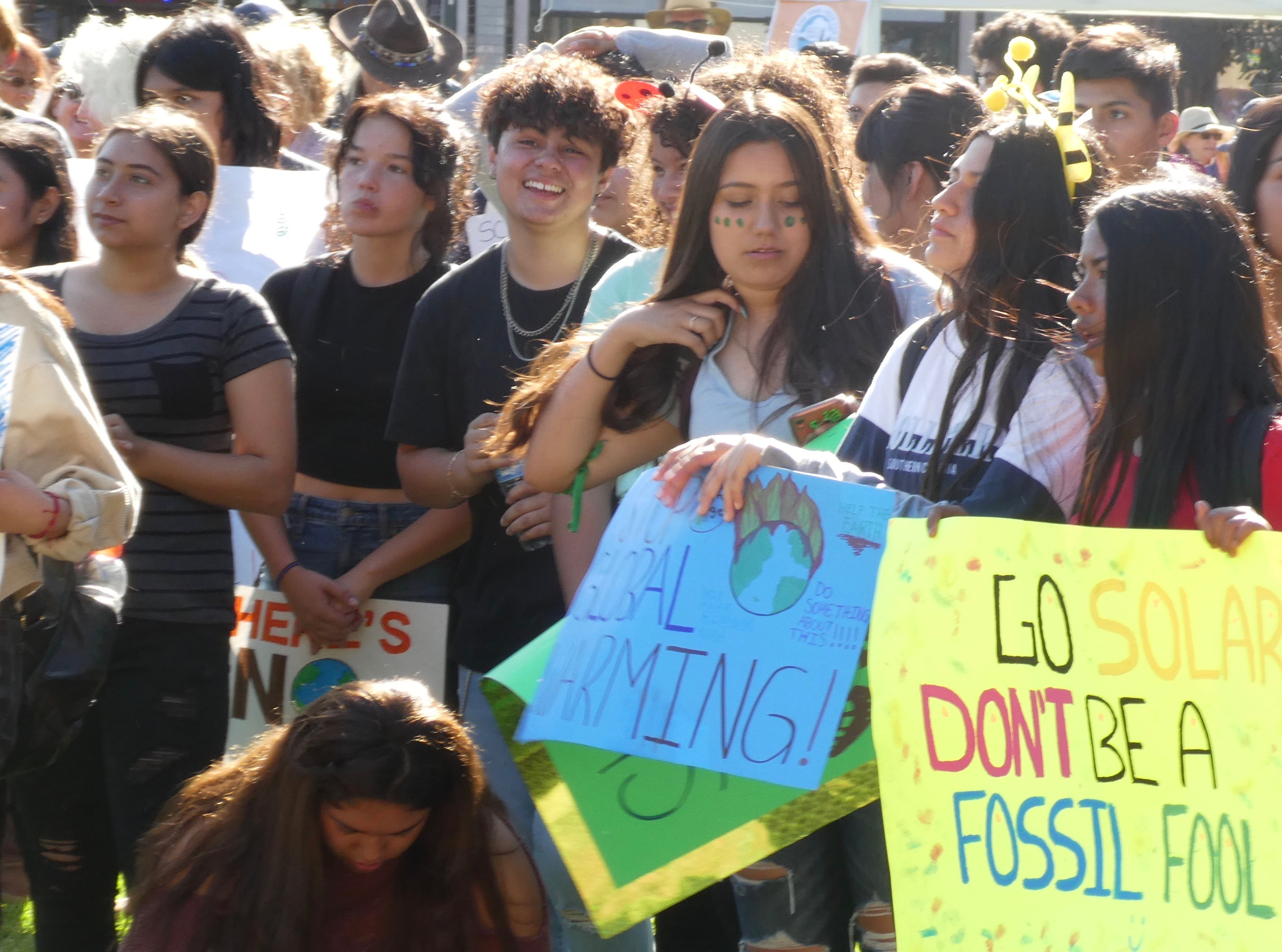 Youth Rally Against Climate Inaction with a Focus on Immigration and Farmworkers