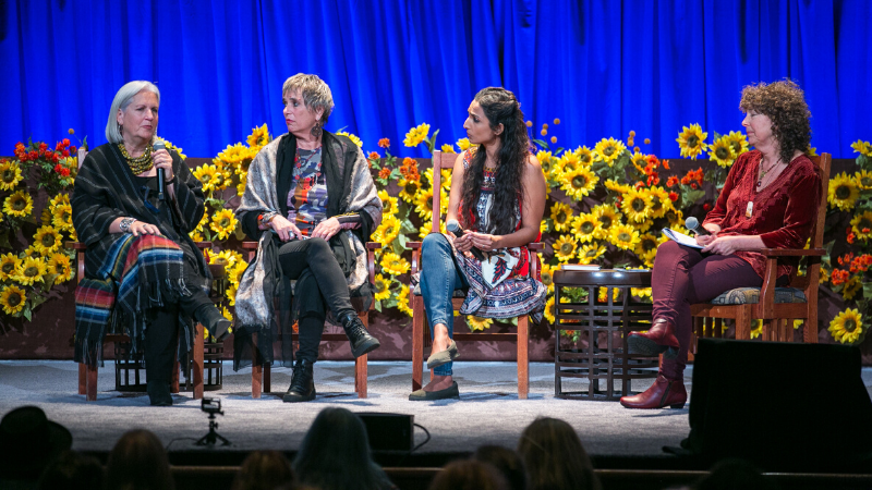 Terry Tempest Williams, Eve Ensler, Valarie Kaur & Nina Simons: Grief, Sacred Rage, Reckoning, and Revolutionary Love