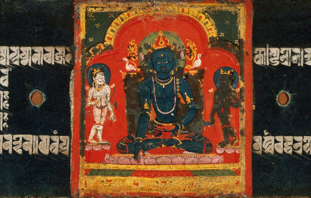 The Jina Buddha Akshobhya, Folio from a Pancharaksha (The Five Protective Charms). Courtesy of LACMA